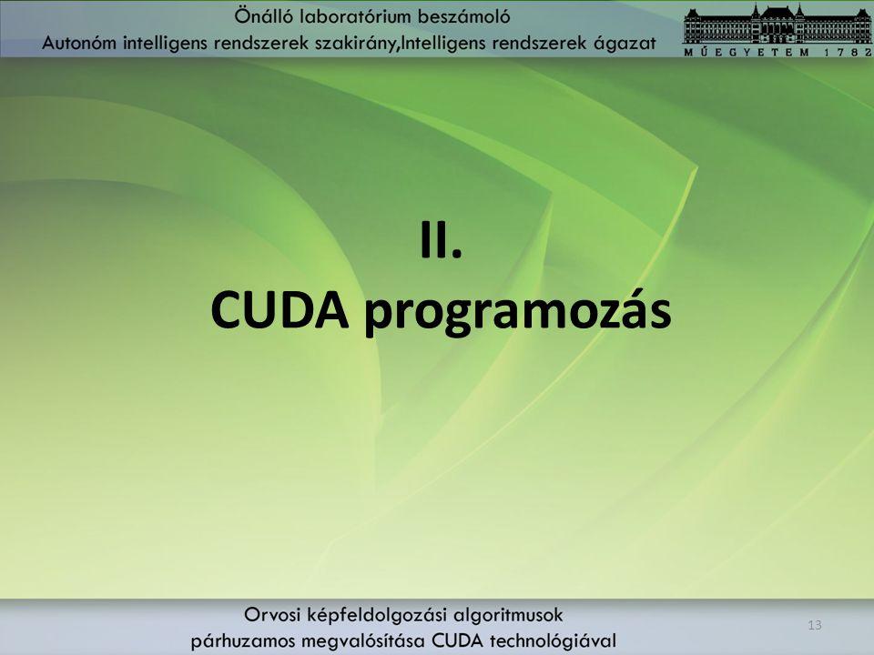II. CUDA programozás