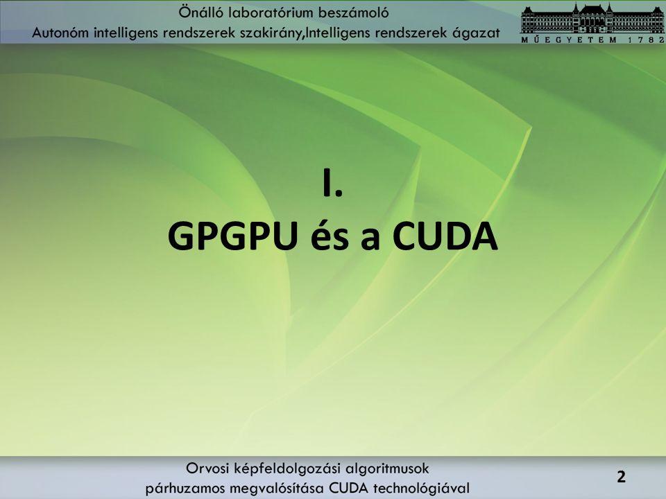I. GPGPU és a CUDA