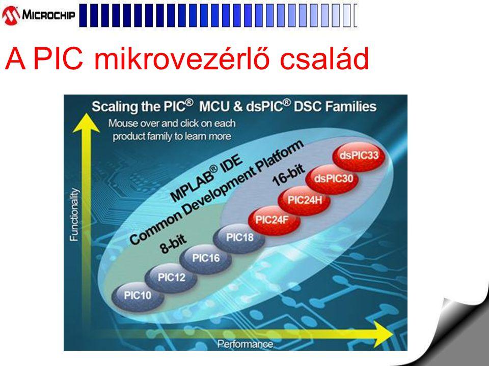 A PIC mikrovezérlő család