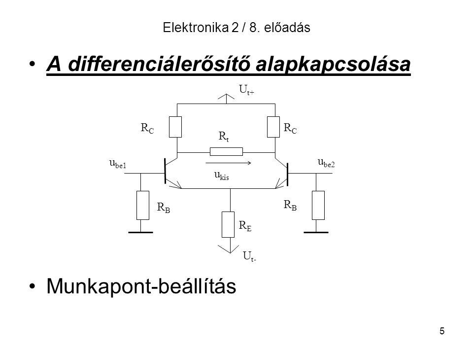 A differenciálerősítő alapkapcsolása