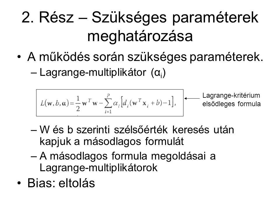 2. Rész – Szükséges paraméterek meghatározása