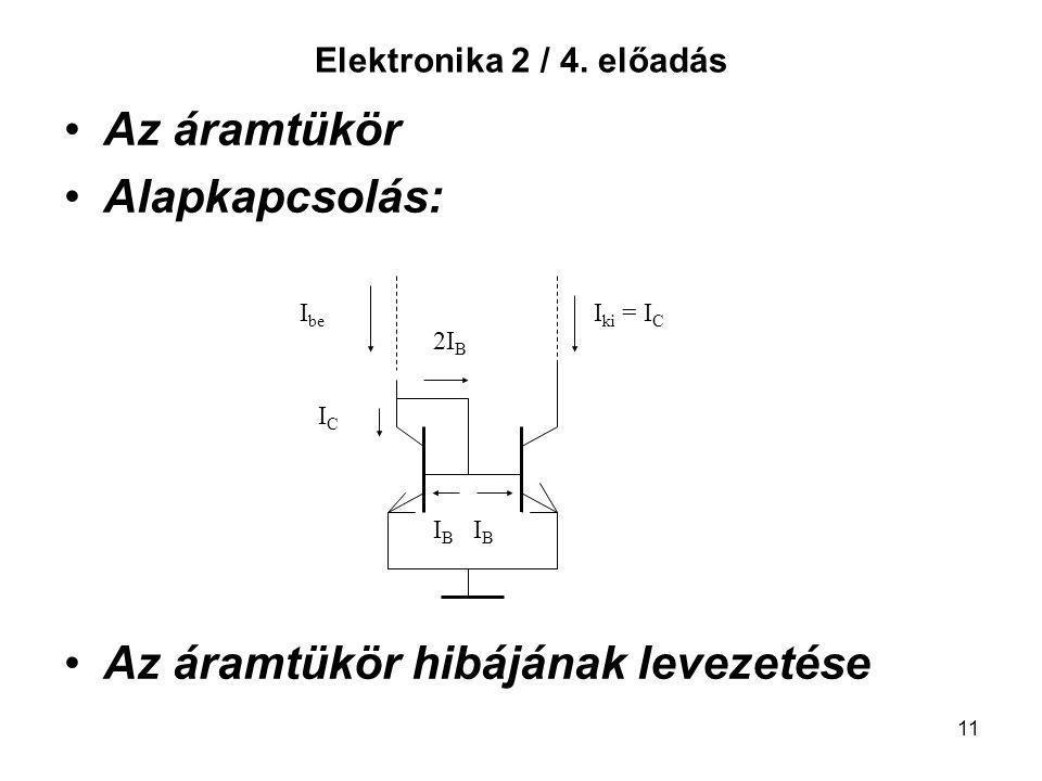 Az áramtükör hibájának levezetése
