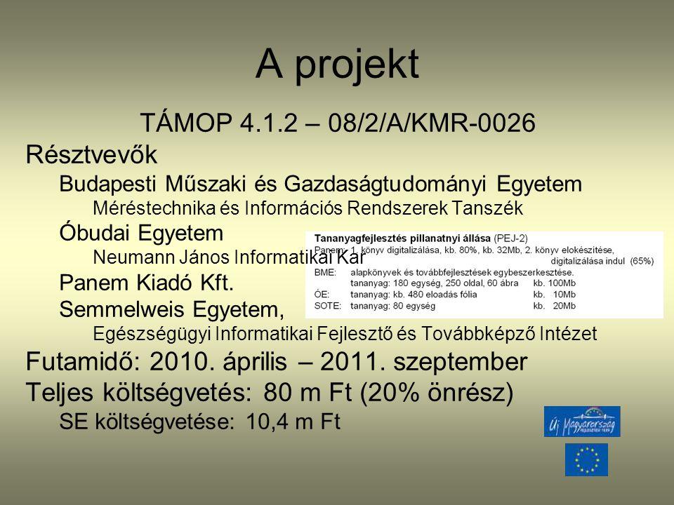 A projekt TÁMOP 4.1.2 – 08/2/A/KMR-0026 Résztvevők