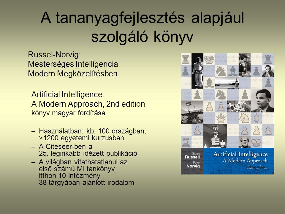 A tananyagfejlesztés alapjául szolgáló könyv