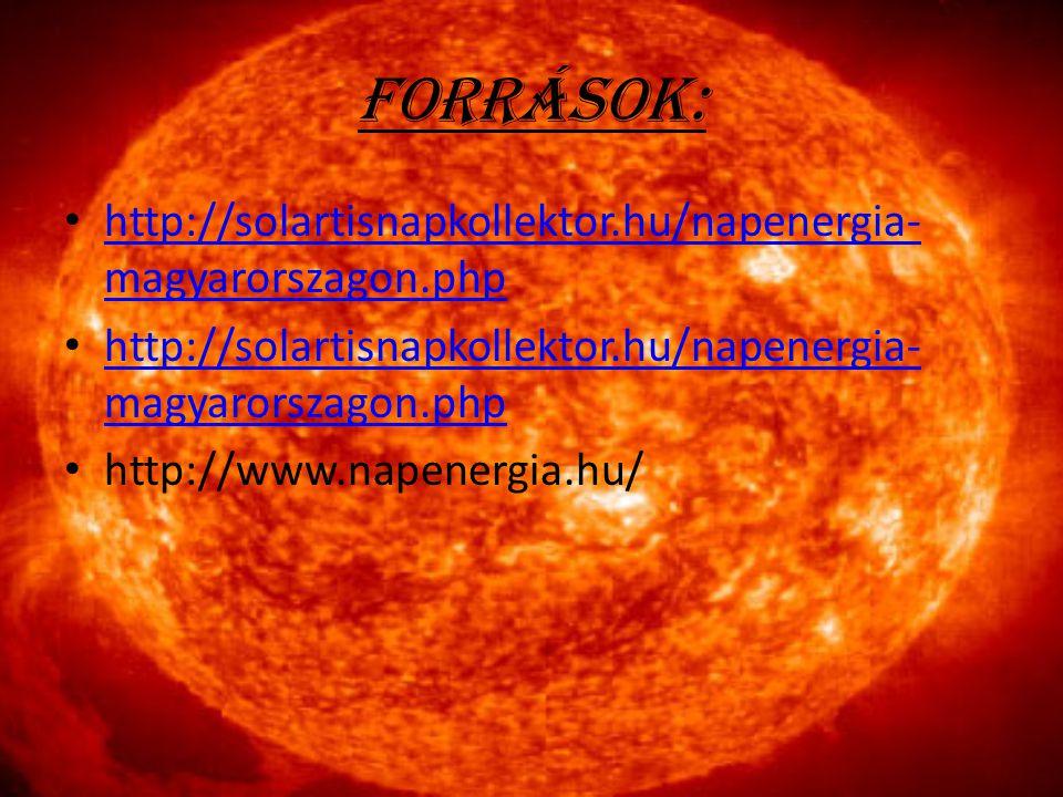 Források: http://solartisnapkollektor.hu/napenergia-magyarorszagon.php