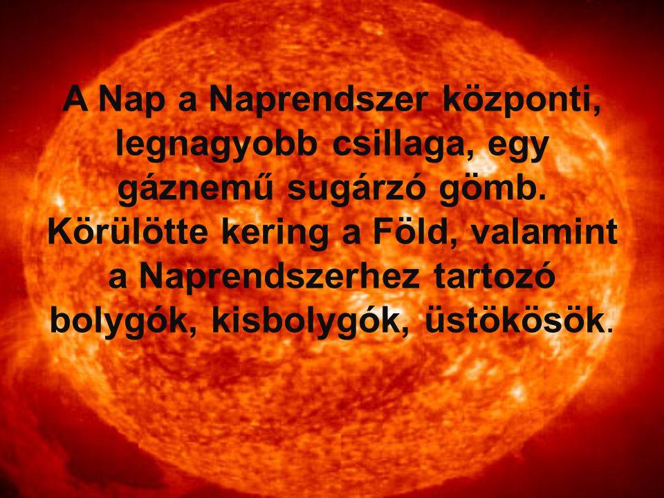 A Nap a Naprendszer központi, legnagyobb csillaga, egy gáznemű sugárzó gömb.