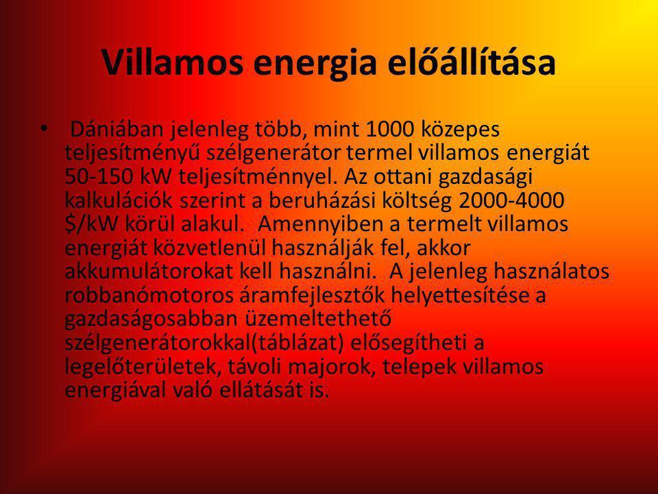 Villamos energia előállítása