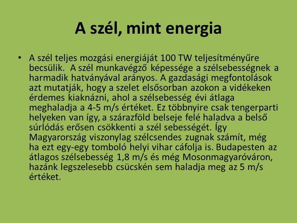 A szél, mint energia