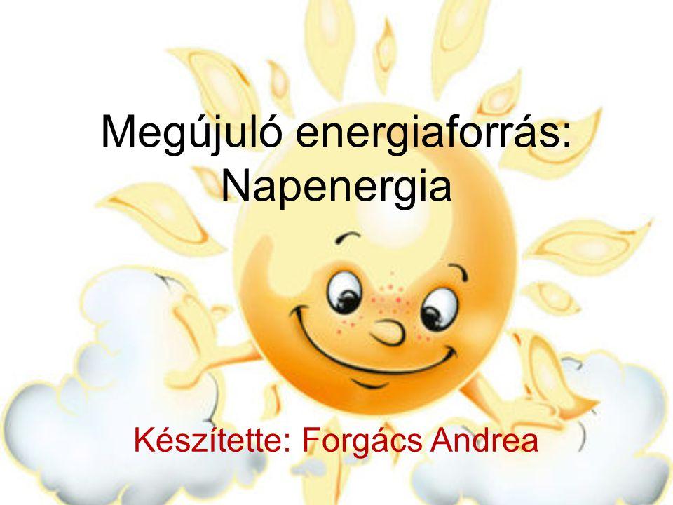 Megújuló energiaforrás: Napenergia