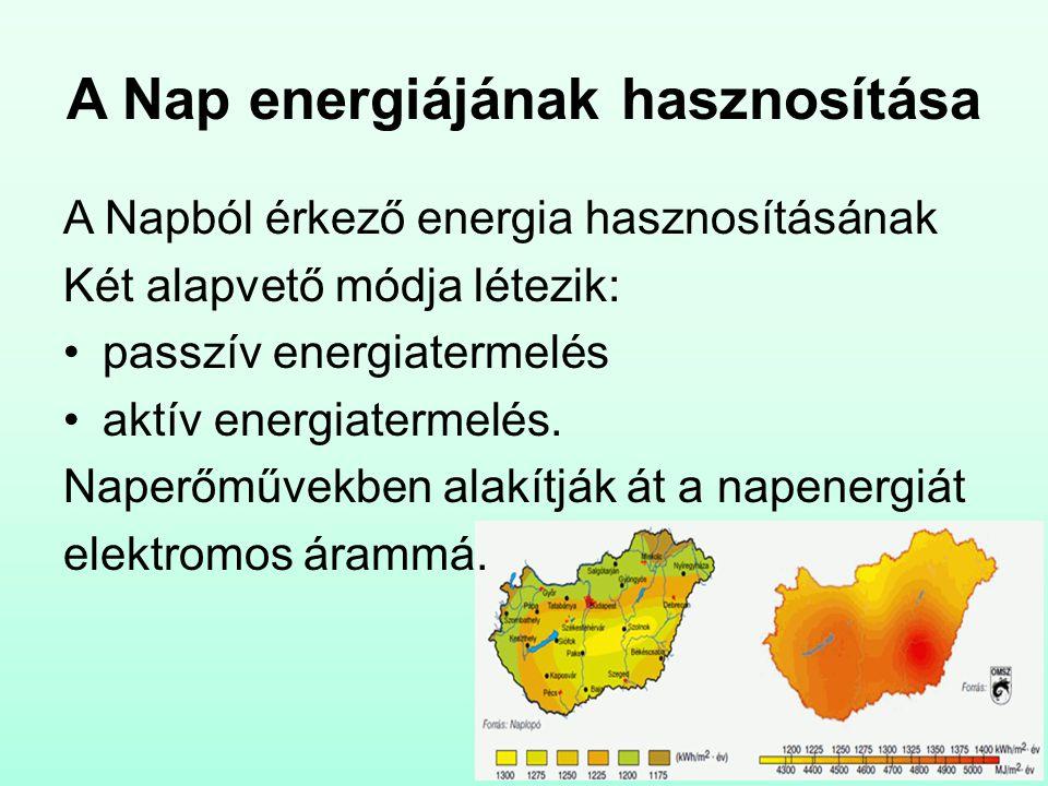 A Nap energiájának hasznosítása