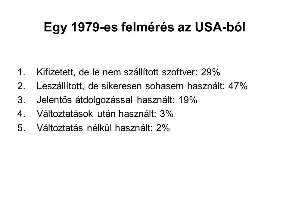 Egy 1979-es felmérés az USA-ból