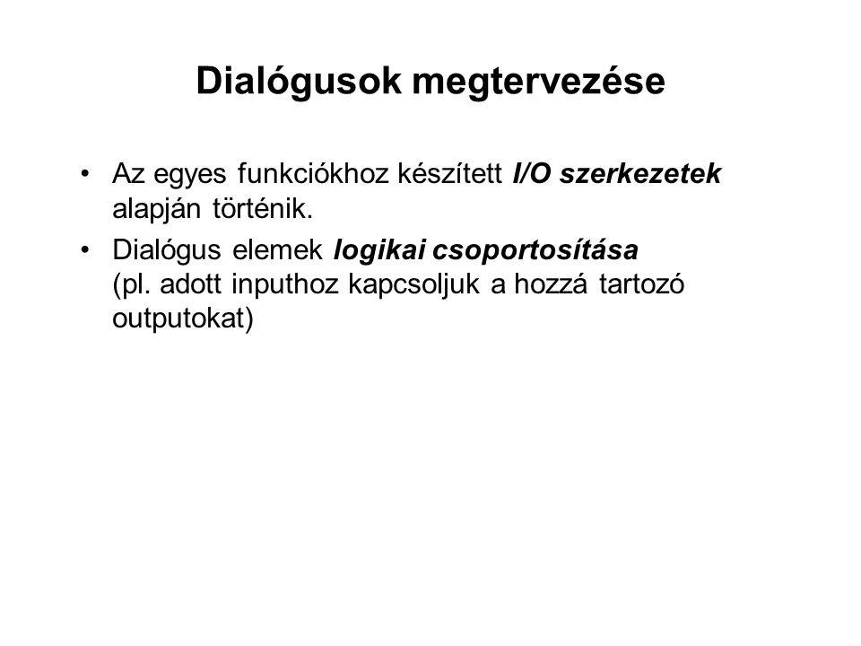 Dialógusok megtervezése