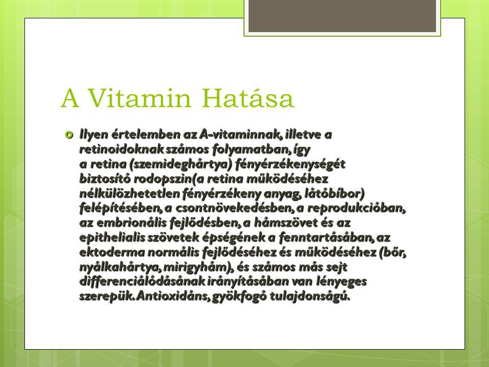 A Vitamin Hatása