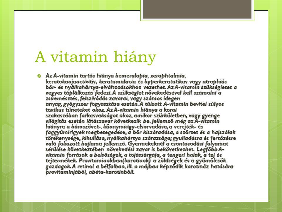 A vitamin hiány