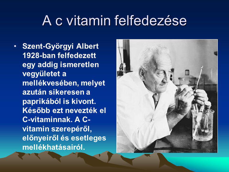 A c vitamin felfedezése