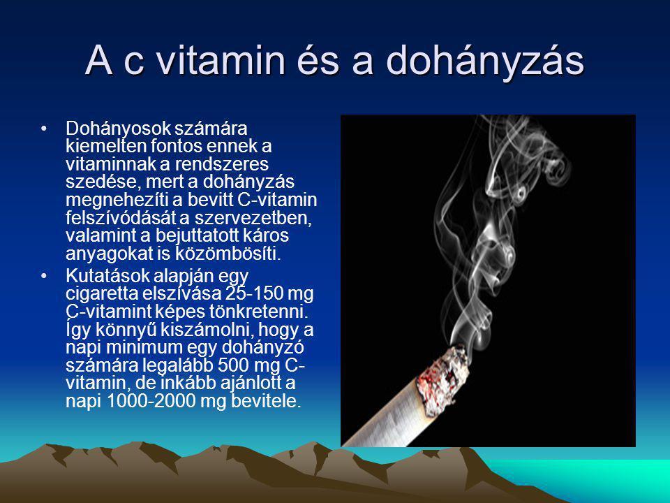 A c vitamin és a dohányzás