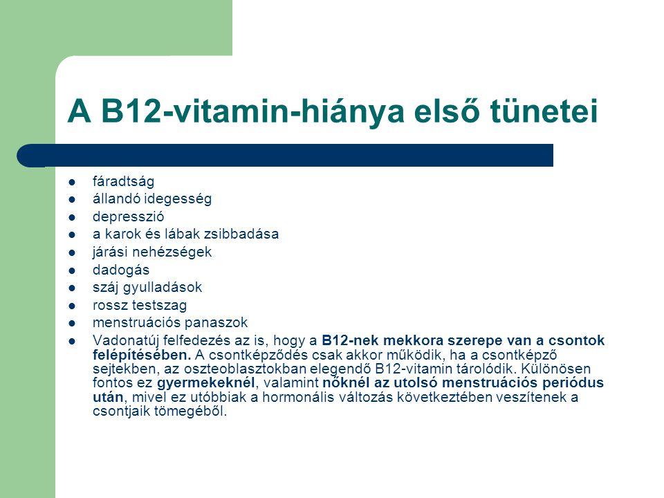A B12-vitamin-hiánya első tünetei