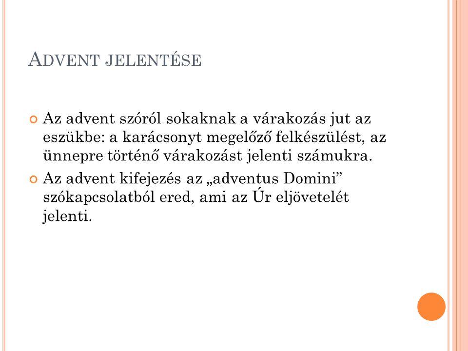 Advent jelentése