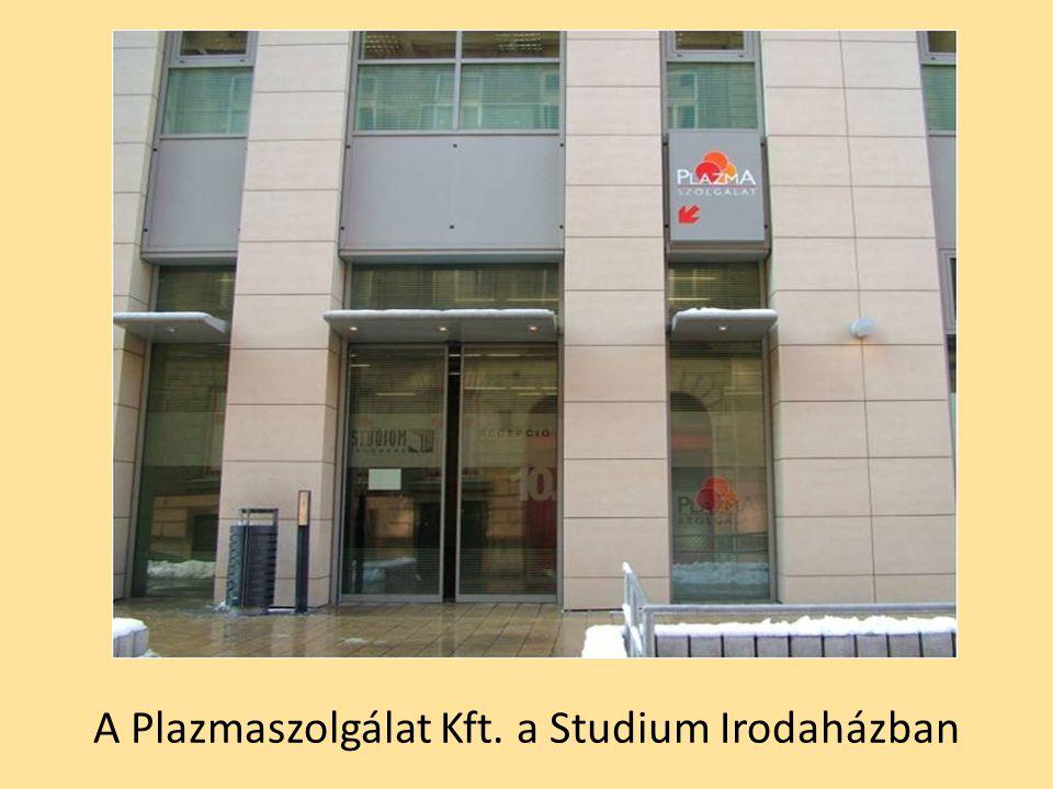 A Plazmaszolgálat Kft. a Studium Irodaházban