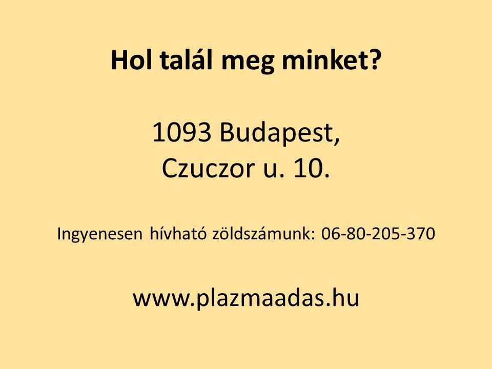 Hol talál meg minket. 1093 Budapest, Czuczor u. 10