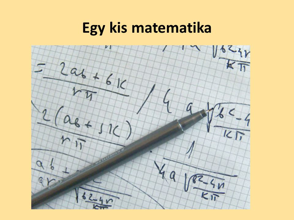 Egy kis matematika