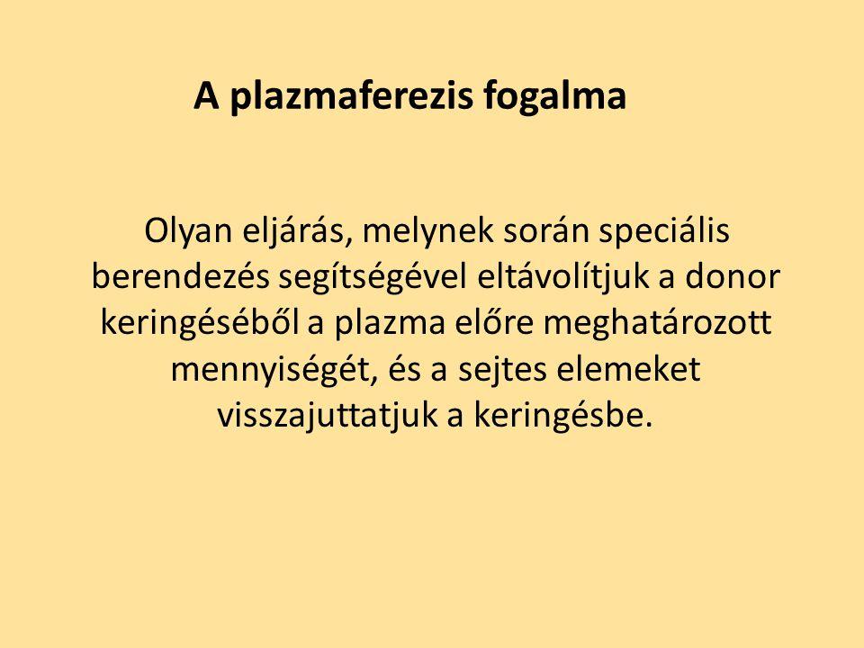 A plazmaferezis fogalma