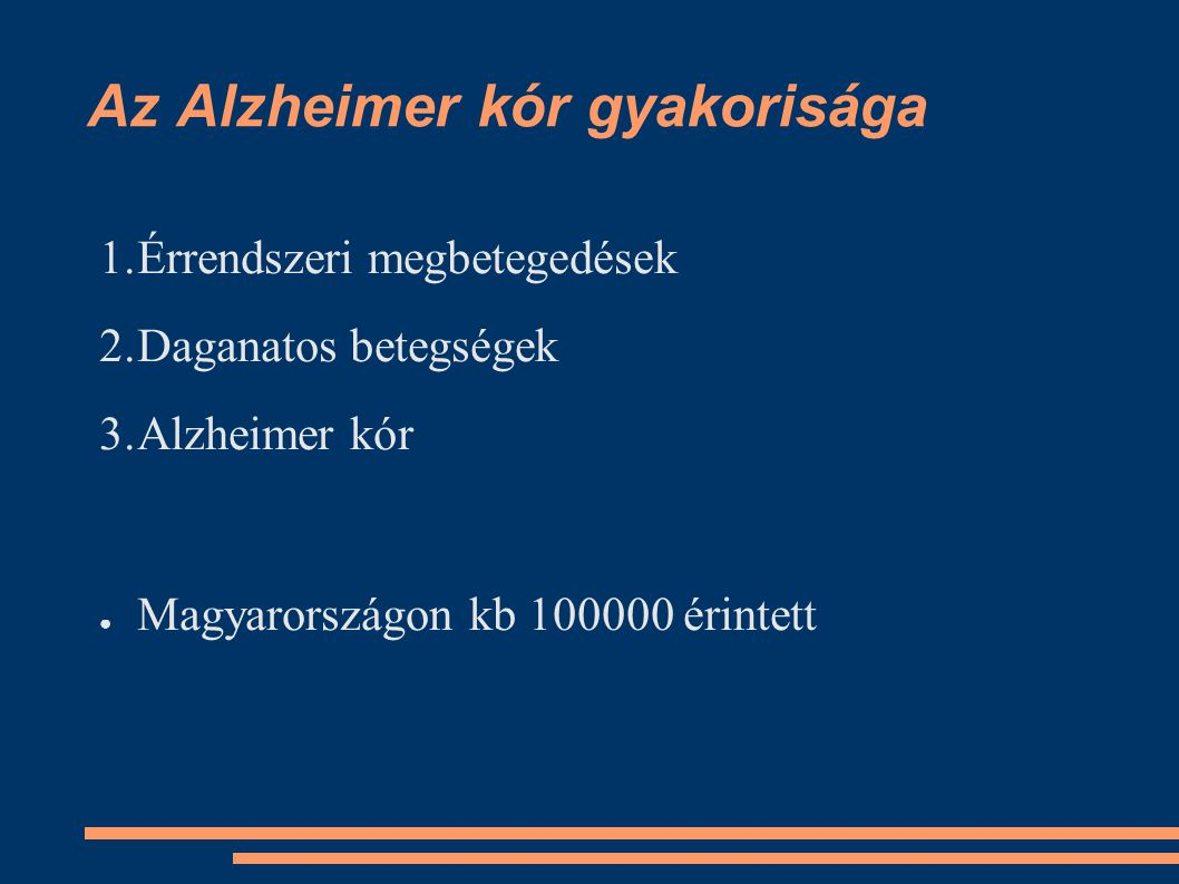 Az Alzheimer kór gyakorisága