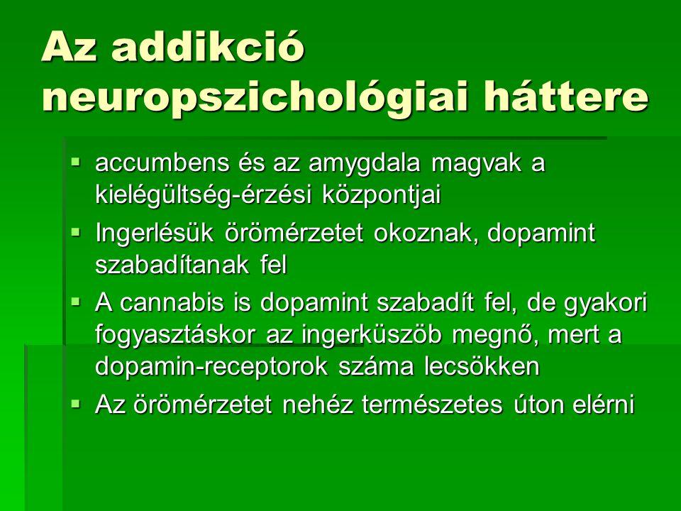 Az addikció neuropszichológiai háttere