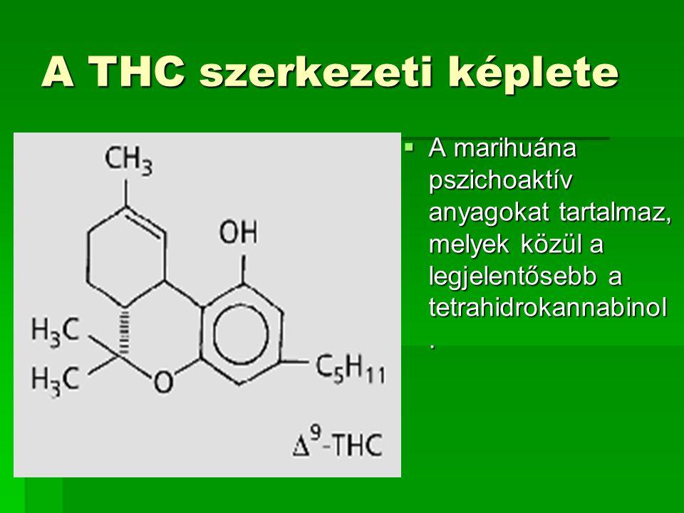 A THC szerkezeti képlete