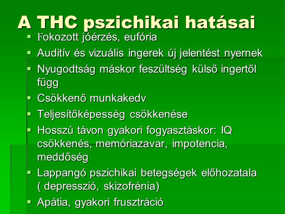 A THC pszichikai hatásai