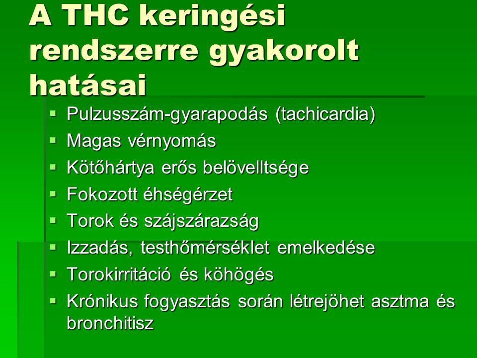 A THC keringési rendszerre gyakorolt hatásai
