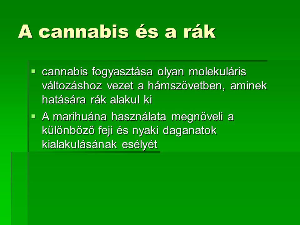 A cannabis és a rák cannabis fogyasztása olyan molekuláris változáshoz vezet a hámszövetben, aminek hatására rák alakul ki.