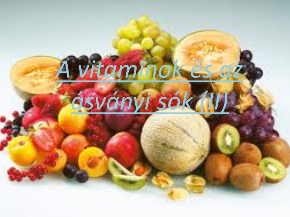 A vitaminok és az ásványi sók (II)