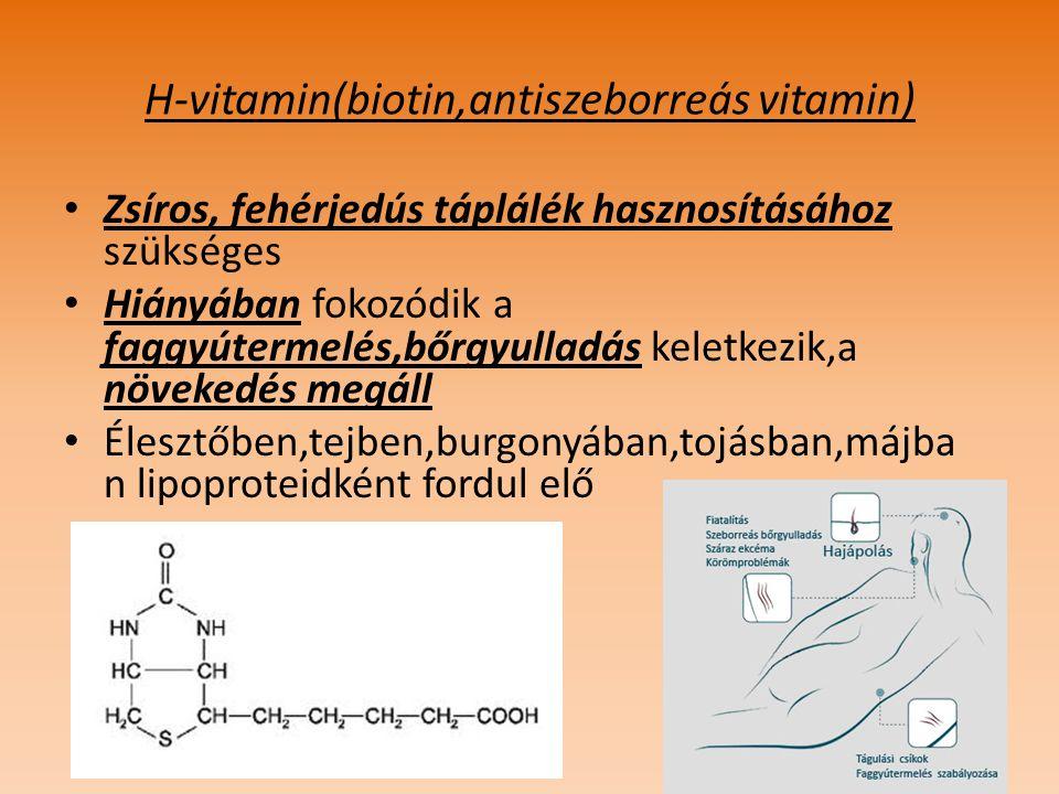 H-vitamin(biotin,antiszeborreás vitamin)