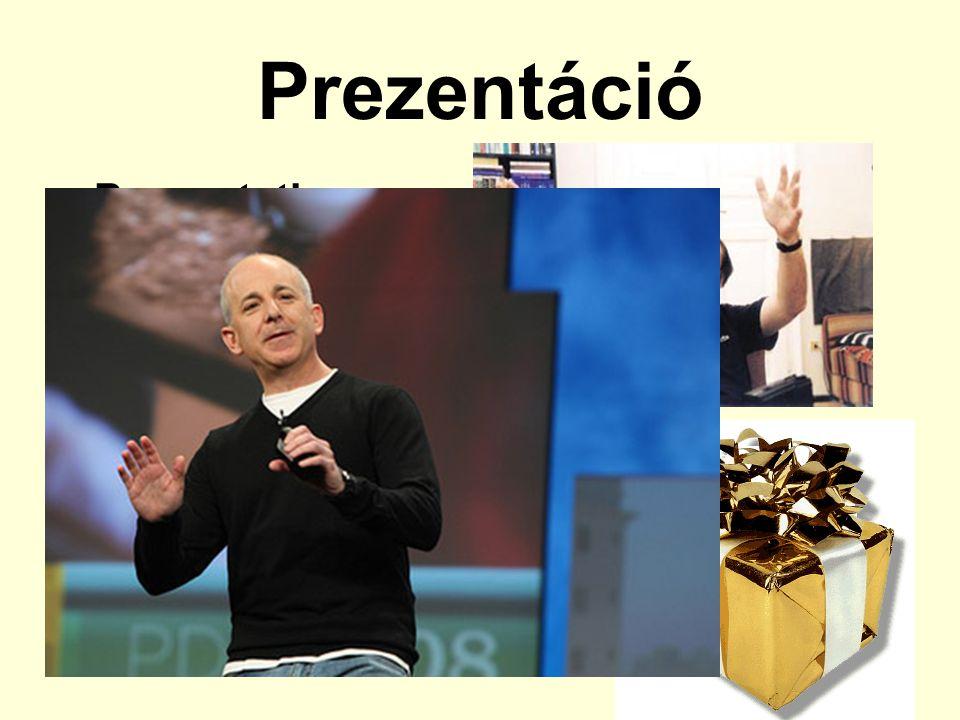 Prezentáció Presentation Tipikusan vállalati műfaj Bemutatás