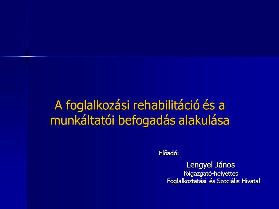 A foglalkozási rehabilitáció és a munkáltatói befogadás alakulása