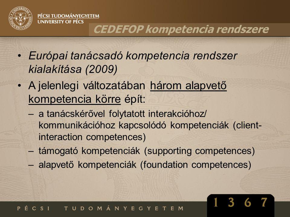Európai tanácsadó kompetencia rendszer kialakítása (2009)