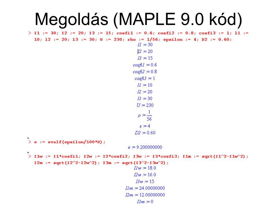 Megoldás (MAPLE 9.0 kód)