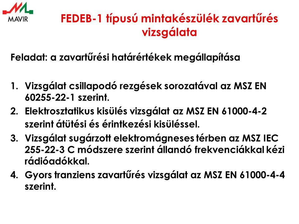 FEDEB-1 típusú mintakészülék zavartűrés vizsgálata