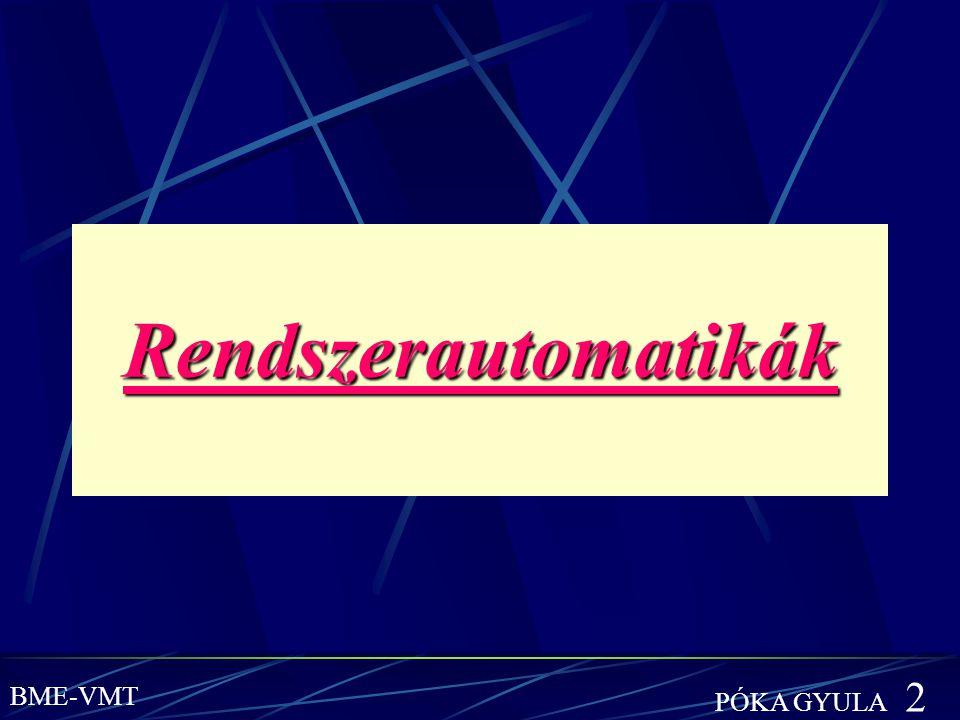 Rendszerautomatikák PÓKA GYULA 2 BME-VMT