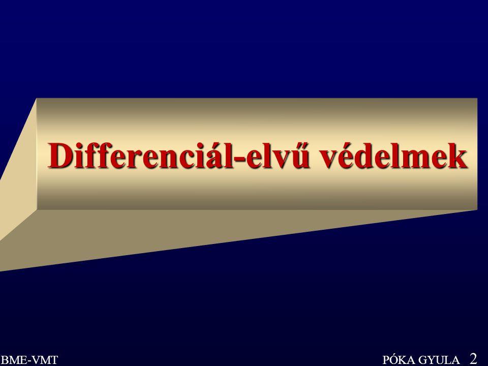 Differenciál-elvű védelmek