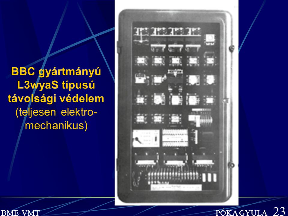 BBC gyártmányú L3wyaS típusú távolsági védelem (teljesen elektro-mechanikus)