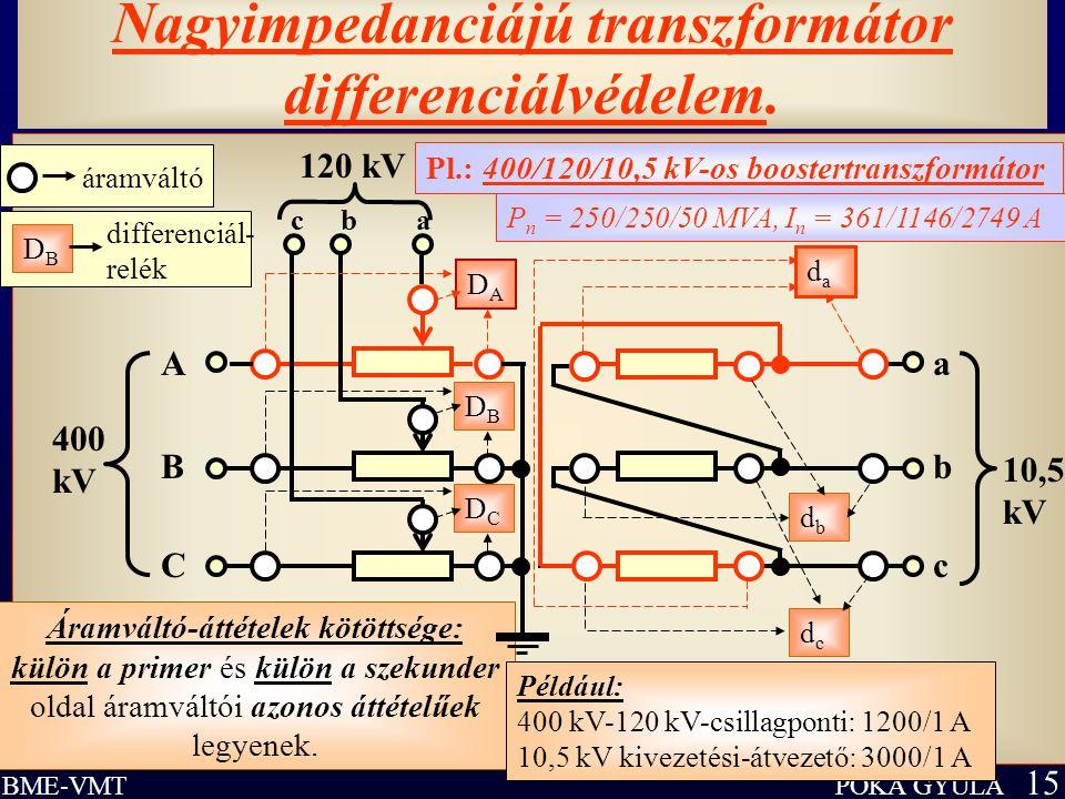 Nagyimpedanciájú transzformátor differenciálvédelem.