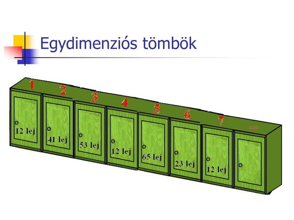Egydimenziós tömbök