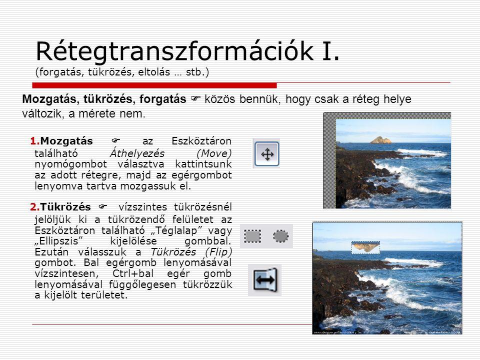 Rétegtranszformációk I. (forgatás, tükrözés, eltolás … stb.)