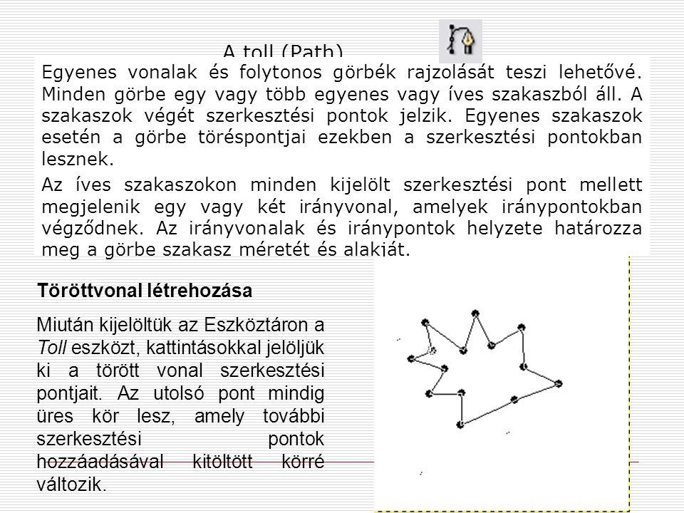 A toll (Path) Töröttvonal létrehozása
