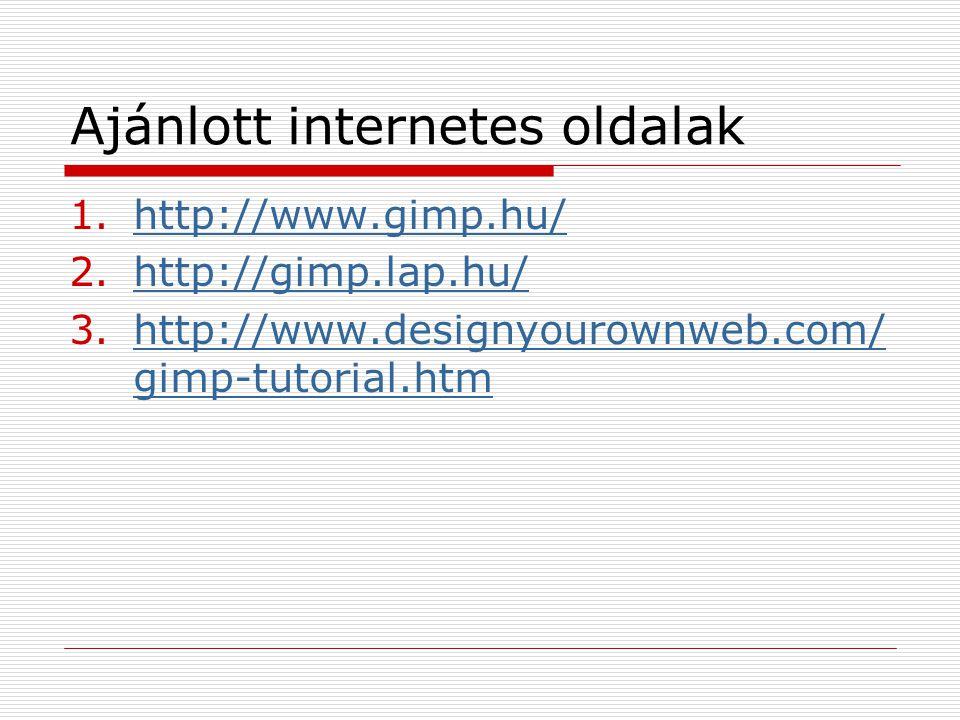Ajánlott internetes oldalak