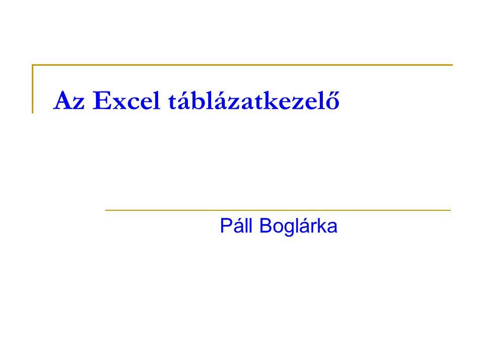 Az Excel táblázatkezelő