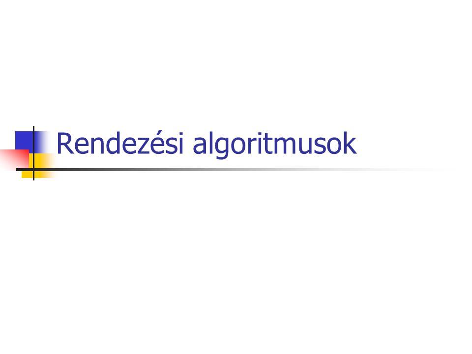 Rendezési algoritmusok