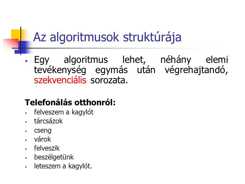 Az algoritmusok struktúrája
